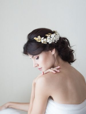 Cherry blossom headpiece / Tocado de flores de cerezo