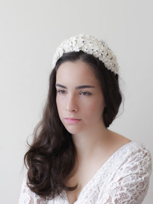 Cherry blossom bridal headband / Style 204